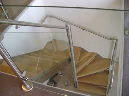 Stair Banister Glass Stairscase Steep Winder Staircase Design Stainless Steel Banister