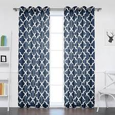 White And Navy Curtains Navy Blue And White Curtains