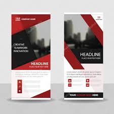 red black roll up business brochure flyer banner design cover