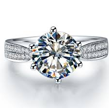 sterling diamond rings images Jewelry brand 1ct brilliant quality prongs diamond ring sterling jpg