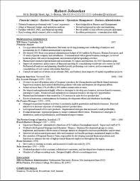 financial analyst resume description entry level financial analyst