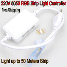 light up jump 50m auto jump rgb controller for ac 110v 220v smd5050 led strip