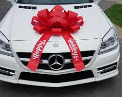 car gift bow 30 happy birthday car bow with magnetic base large