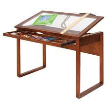 Light Up Drafting Table This Desk You Can See All The Supplies In The Drawer