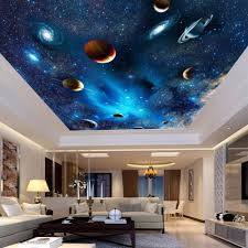 custom 3d space mural wallpaper astronomical galaxy planet