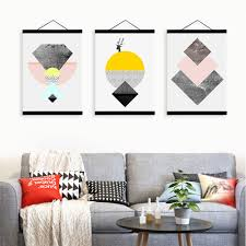 Nordic Home Aliexpress Com Buy Abstract Geometric Texture Shape Wooden