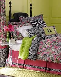 Designer Girls Bedding Full Size Zebra Comforter Cotton Lime Green Coverlet