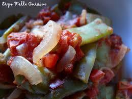 comment cuisiner les haricots plats haricots plats à l espagnole eryn et sa folle cuisine