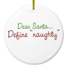 dear santa define ceramic ornament zazzle