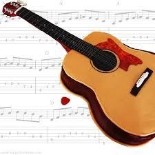 acoustic guitar fondant cake video tutorial happyfoods tube