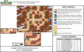 Super Mario World Level Maps by Super Mario Advance 2 Forest Of Illusion Overworld Map Png