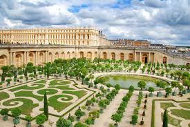 famous palace versailles near paris france with beautiful gardens