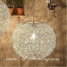 Ball Chandelier Lights The Most Attractive Mesh Wire Ball Pendant Modern Lamp Modern