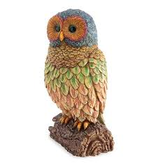 owls owl themed home garden decor wind weather