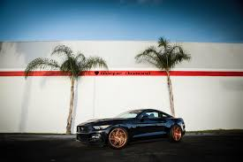 Ford Mustang Gt Black 2015 Ford Mustang Fitted With 20 Inch Bd 1 U0027s In Rose Gold Blaque
