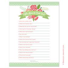 interactive bridal shower instant downloadable bridal shower that you can print at