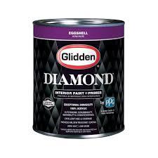 glidden diamond 1 qt pure white eggshell interior paint and