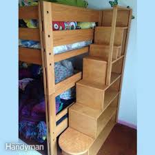 Bunk Bed Stairs With Drawers Bunk Bed Plans 21 Bunk Bed Designs And Ideas Family Handyman