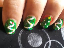 christmas tree nails sugar spice and everything nice