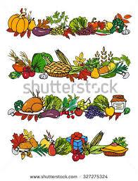 vector thanksgiving border set stock vector 327275324