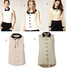 Black Blouse With White Collar Alex Jones Black Tie Top Celebrity Fashion Finds