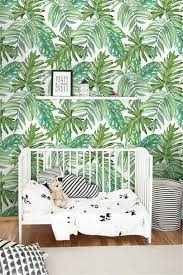 monstera leaves pattern wallpaper removable wallpaper zoom