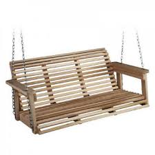porch swing bench wood hanging patio chair seat wooden outdoor