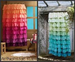 bathroom enchanting ruffle shower curtain for bathroom decoration using ombre ruffle shower curtain for charming bathroom decoration ideas