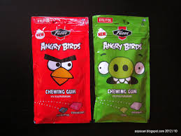 popscan angry birds chewing gum