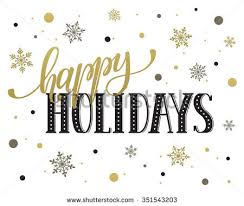 happy holidays postcard template modern new stock vector 351543203