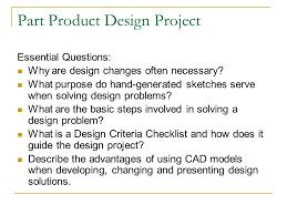 design criteria questions part product design project ppt download