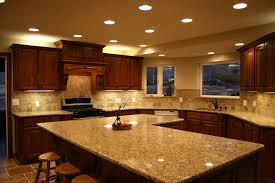 granite countertop white pine cabinets copper slate backsplash