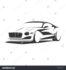 cartoon sports car black and white car stock vector 457803403 shutterstock