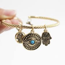 evil eye hand bracelet images Evil eye and hand of fatima bangle zenshopworld jpg