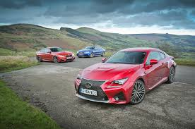 lexus rc f vs bmw m4 drag race new lexus rc f versus bmw m4 and audi rs5 comparison autocar