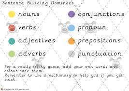 pet sentence building dominoes premium printable classroom