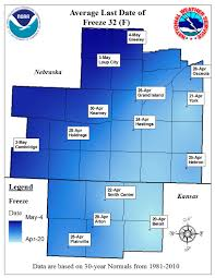 Lincoln Ne Zip Code Map by Spring 2017 Frost Freeze Information Includes Average Last Dates