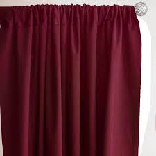 Shower Curtain With Pockets Set Of 2 Burgundy Fire Retardant Polyester Curtain Panel Backdrops