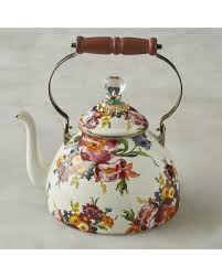 mackenzie childs l huge deal on mackenzie childs tea kettle 3 qt flower