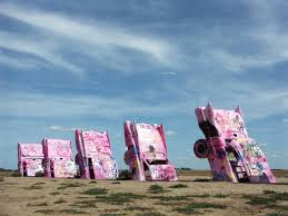 cadillac ranch carolina road trip post a pic of a roadside attraction democratic