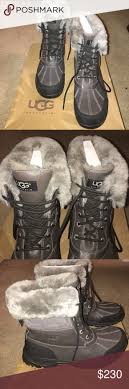 s knit boots size 12 authentic grey fur ugg boots size 12 and knit cap