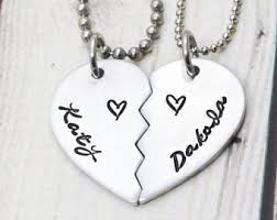 personalized necklaces for couples inspirational design ideas personalized necklaces half heart