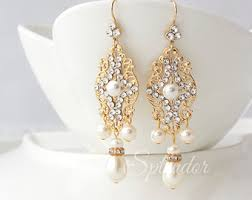 gold bridal earrings chandelier gold chandelier bridal wedding earrings statement gold bridal