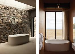 Wall Lining For Bathrooms Bathrooms From A Timber Lined Escape To Cave Like Drama