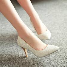 wedding shoes toe pointed toe women pumps spike high heels sequined wedding shoes