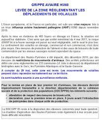 chambre agriculture 65 grippe aviaire h5n8 la mise en place de palmipèdes à nouveau