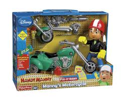 amazon fisher price manny u0027s fix motorcycle toys u0026 games