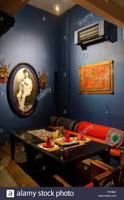 exotic rustic asian themed dining room stock photo royalty free