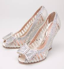 silver wedding shoes wedges wedding shoes ideas open toes rhinestones wedge silver