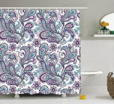 Paisley Shower Curtain Blue by Bohemian Shower Curtain Floral Shower Curtains Bohemian Shower